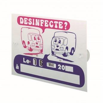 Plaque plastique 'Désinfecté'