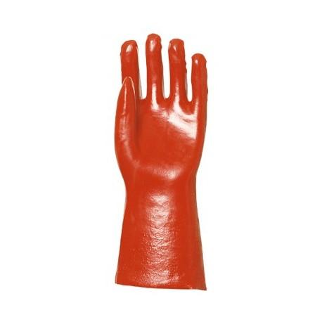 Gants de protection PVC 35cm rouge taille 10