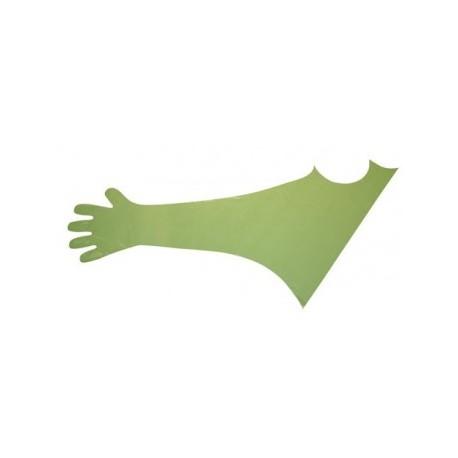 Gants à usage unique 120cm long, 50 pcs, vert