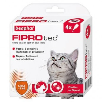 ANTIPARASITAIRE FIPRONIL CHAT PIPETTE*4